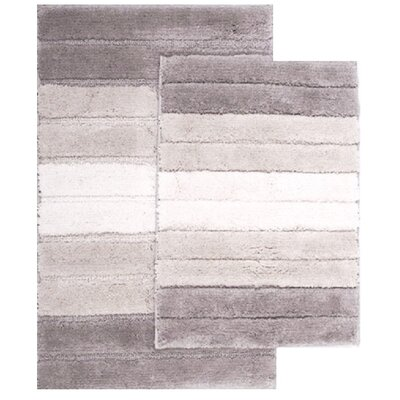 2 Piece Ombre Shade Bath Rug Set Color: Beige