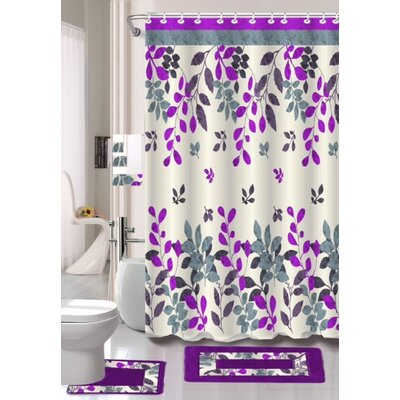Bernarda 15 Piece Shower Curtain Set