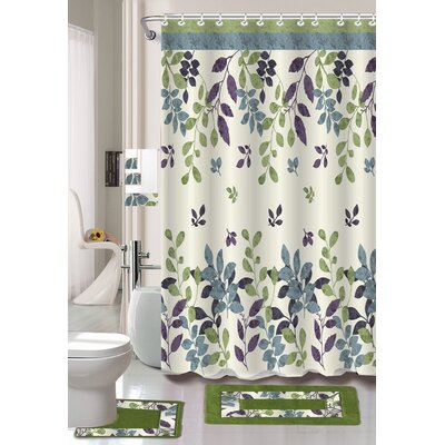 Candyce 18 Piece Shower Curtain Set
