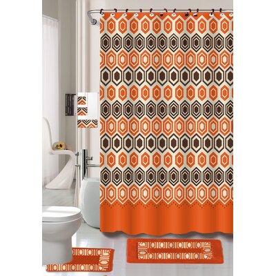 Kari 18 Piece Shower Curtain Set