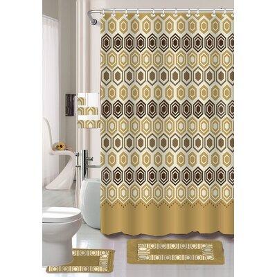 Barbara 18 Piece Shower Curtain Set