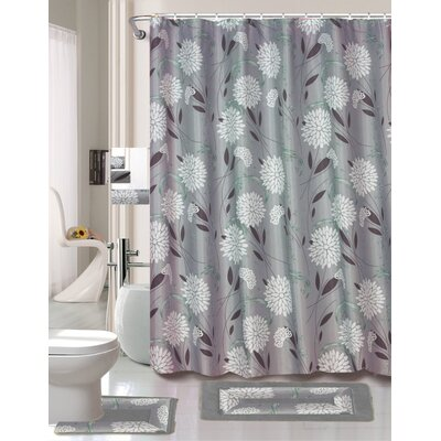 18 Piece Shower Curtain Set