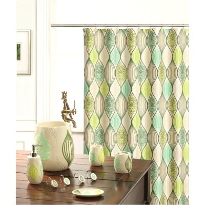 Shower Curtain Color: Lime Green