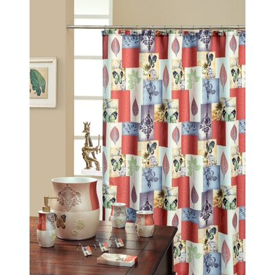 Shower Curtain Color: Rust / Beige