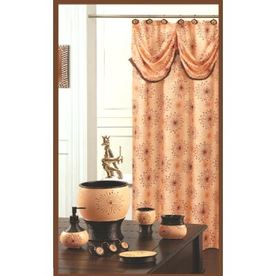 Dante Decorative Shower Curtain Color: Orange & Brown