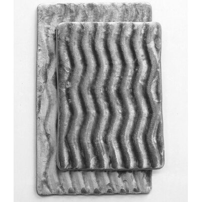 Wave 2 Piece Bath Mat Set Color: Gray