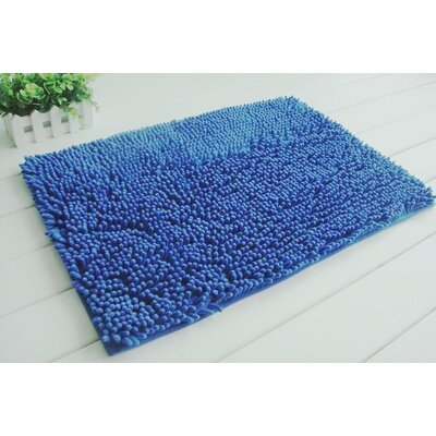 2 Piece Chenille Bath Rug Set Color: Royal Blue