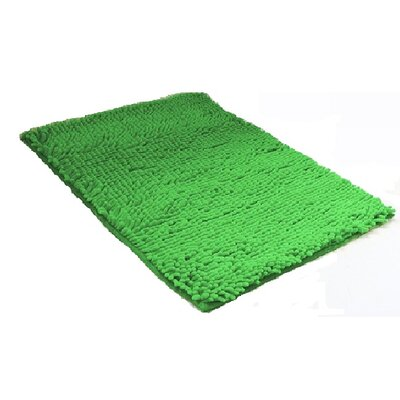 2 Piece Chenille Bath Rug Set Color: Sage Green