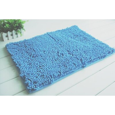 2 Piece Chenille Bath Rug Set Color: Turquoise
