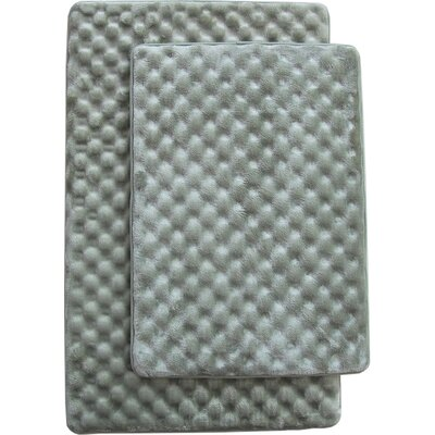 Martha 2 Piece Bath Mat Set Color: Sage
