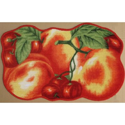 Red Peach Kitchen Mat