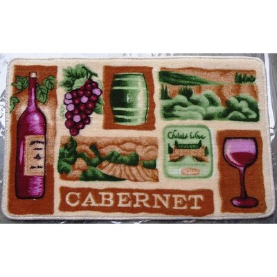 Wine Bottle Kitchen Mat