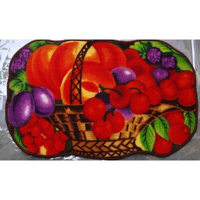 Cherry Basket Kitchen Mat
