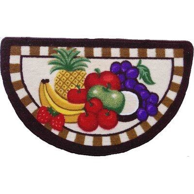 Half Moon Fruit Kitchen Mat