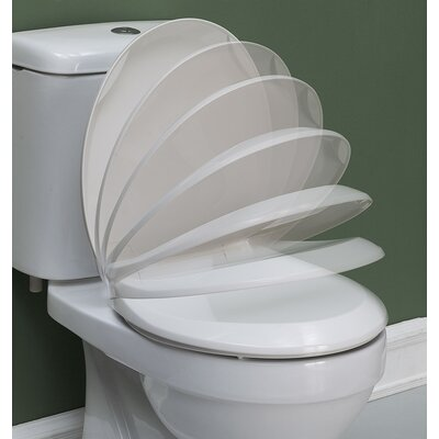 Beveled Slow Close Round Toilet Seat Color: White