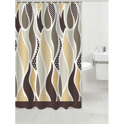 Geometric Shower Curtain Color: Aurora Beige