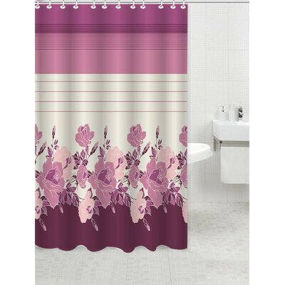 Glasford Shower Curtain Color: Rosanna Rose