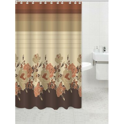 Elegant Touch Shower Curtain Color: Rosanna Beige