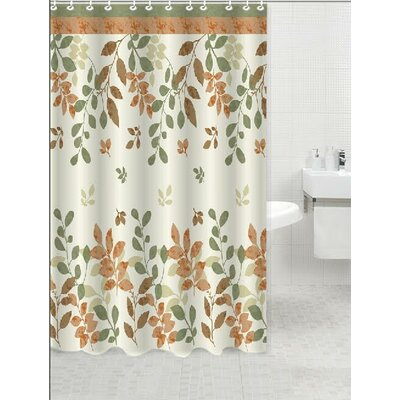 Winamac Shower Curtain Color: Bloom Rust