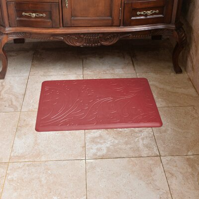 Chef Foam Relief Kitchen Mat Color: Red