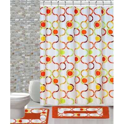 15 Piece Shower Curtain Set Color: Regata