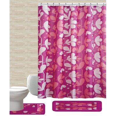 15 Piece Shower Curtain Set Color: Gloria