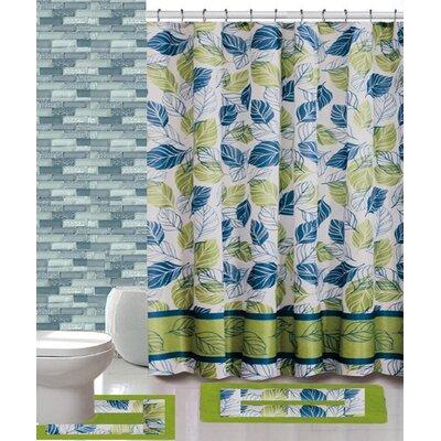 15 Piece Shower Curtain Set Color: Sophia