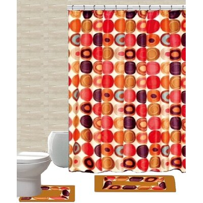 15 Piece Shower Curtain Set Color: Fabulous Beige