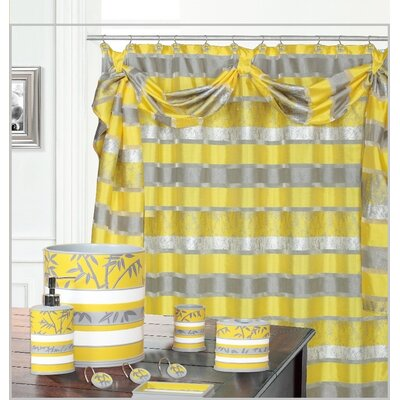 Venezia Decorative Shower Curtain Color: Yellow