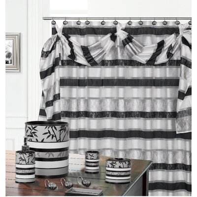 Venezia Decorative Shower Curtain Color: Gray