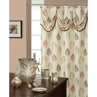 Spa Leaf Decorative Shower Curtain