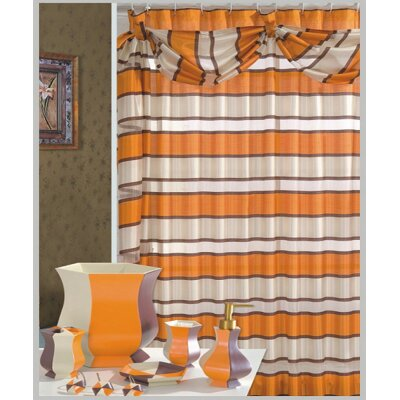 Lorraine Decorative Shower Curtain Color: Orange