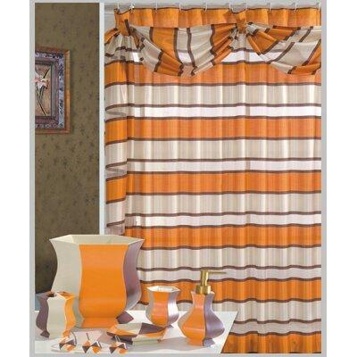 Lorraine Decorative Shower Curtain Color: Orange