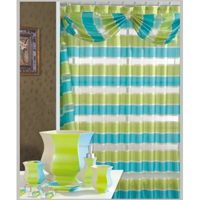 Lorraine Decorative Shower Curtain Color: Turquoise