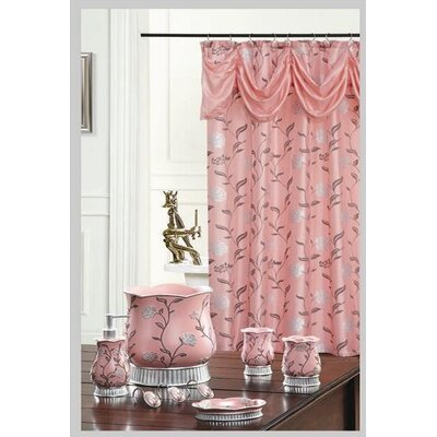 Levesque Decorative Shower Curtain Color: Pink