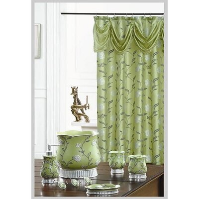Levesque Decorative Shower Curtain Color: Green