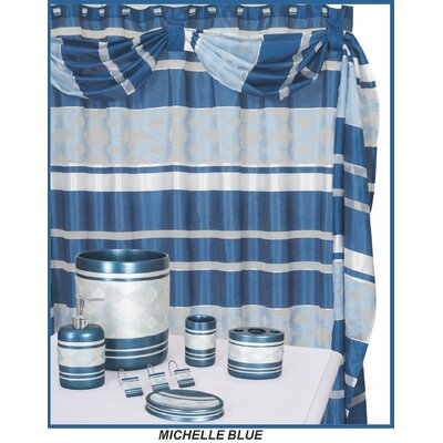 Michelle Decorative Shower Curtain Color: Blue