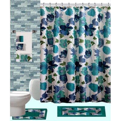 18 Piece Shower Curtain Set
