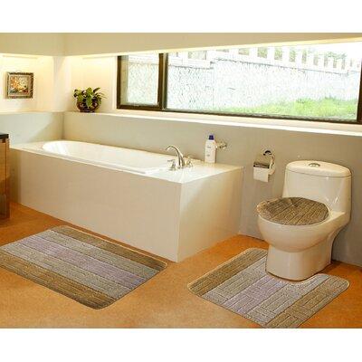 3 Piece Bath Mat Set Color: Gold