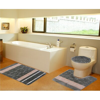 3 Piece Bath Mat Set Color: Sage Green