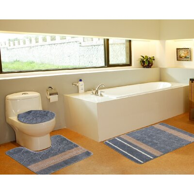 3 Piece Bath Mat Set Color: Galaxy Gray