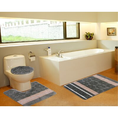 3 Piece Bath Mat Set Color: Galaxy Sage Green