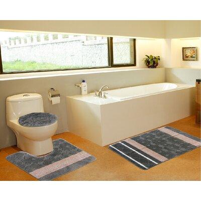 3 Piece Bath Mat Set Color: Galaxy Sage Green