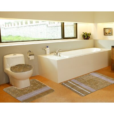 3 Piece Bath Mat Set Color: Galaxy Gold