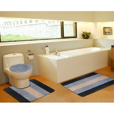 3 Piece Bath Mat Set Color: Tiles Gray