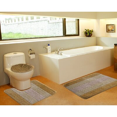3 Piece Bath Mat Set Color: Tiles Gold