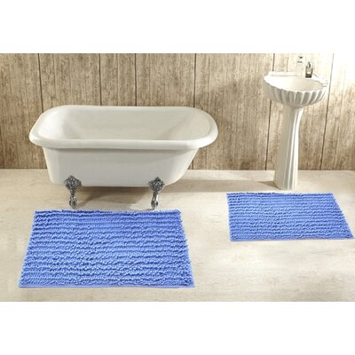 2 Piece Bath Rug Set Color: Lilac
