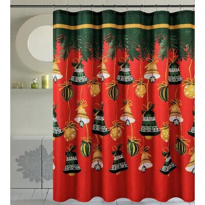 Bath Christmas Decorative Christmas Bells Shower Curtain