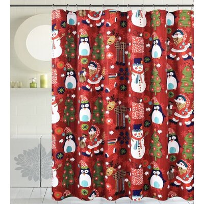 Bath Christmas Decorative Christmas Time Shower Curtain