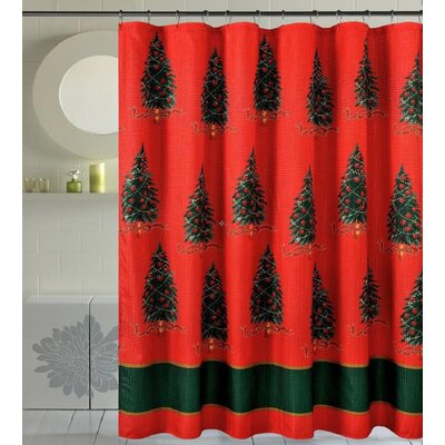 Bath Christmas Decorative Christmas Trees Shower Curtain